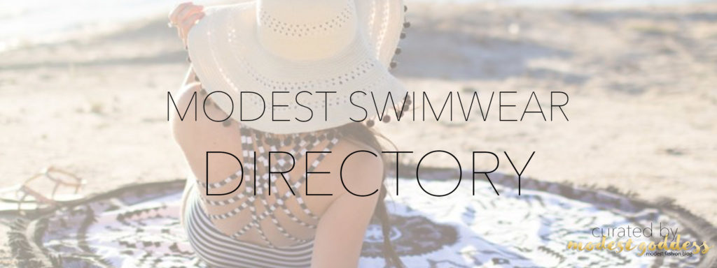Modest Fashion Blogger Modest Goddess curated a list of modest swimwear brands for shopping for cute modest swimsuits.