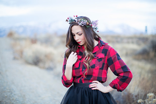 A Plaid and Tulle Christmas Look styled by ourlovelydeseret.com