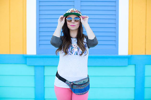 Frozen themed Disneyland outfit styled by modes fashion blogger Lovely Deseret. Photographed by Diana Putnam Photography
