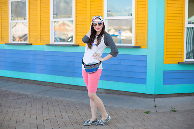 disneyland outfit with fanny pack