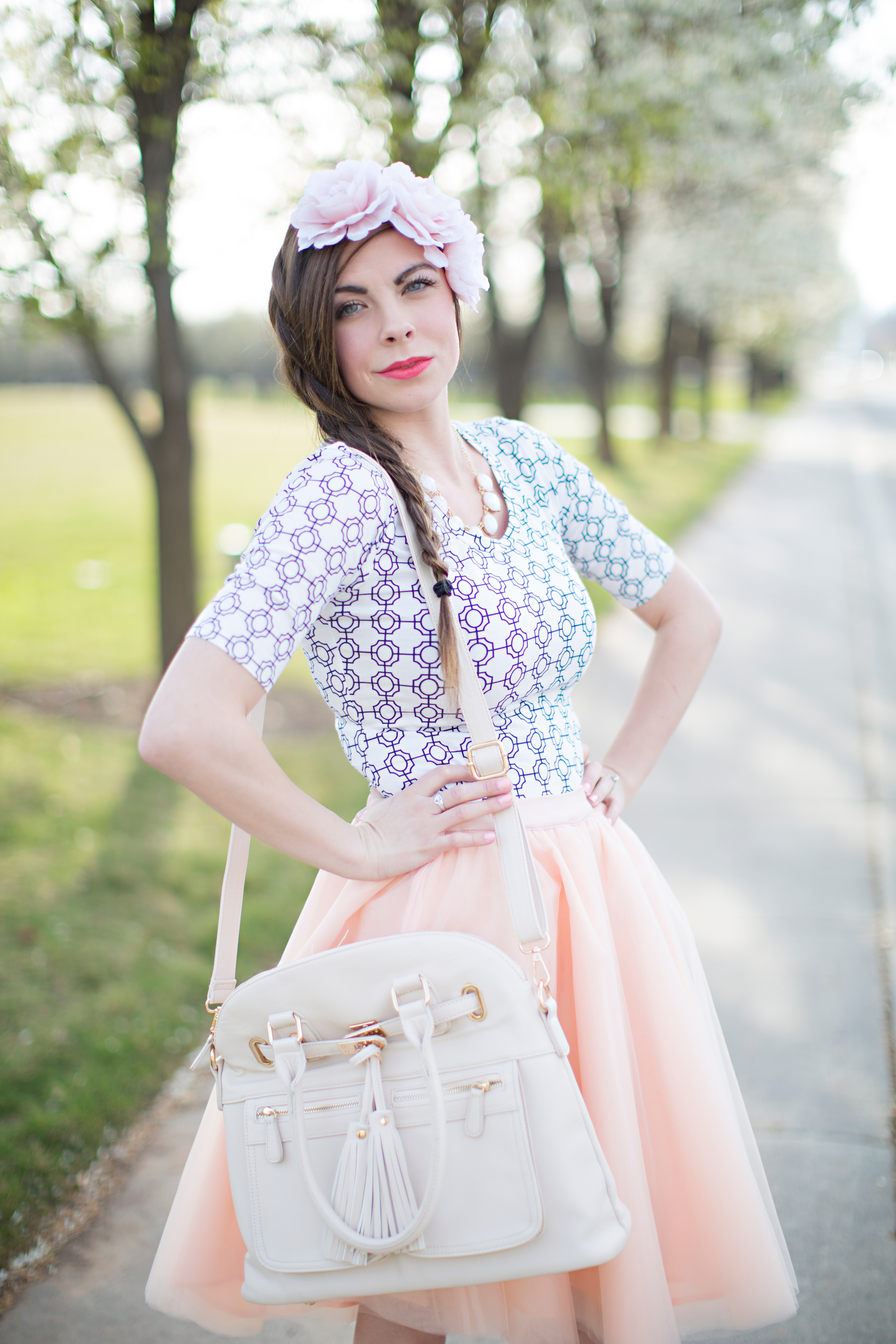 Braids In Bloom A Tulle Skirt Easter Style By Lovely Deseret