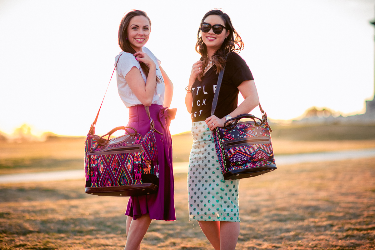 Guatemalan Bags Made Of Huipils Styled By Fashion Bloggers Lovely Deseret And Sandyalamode Photography