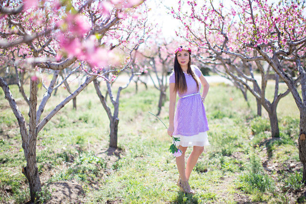 a lilac easter dress modesty hack styled by fashion blogger Lovely Deseret. photography by Diana Putnam Photography