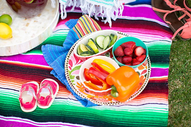 Lovely Deseret and Worthington Avenue plan a Baja Brunch Cinco de Mayo Picnic with colorful food photographed by DIana Putnam Photography