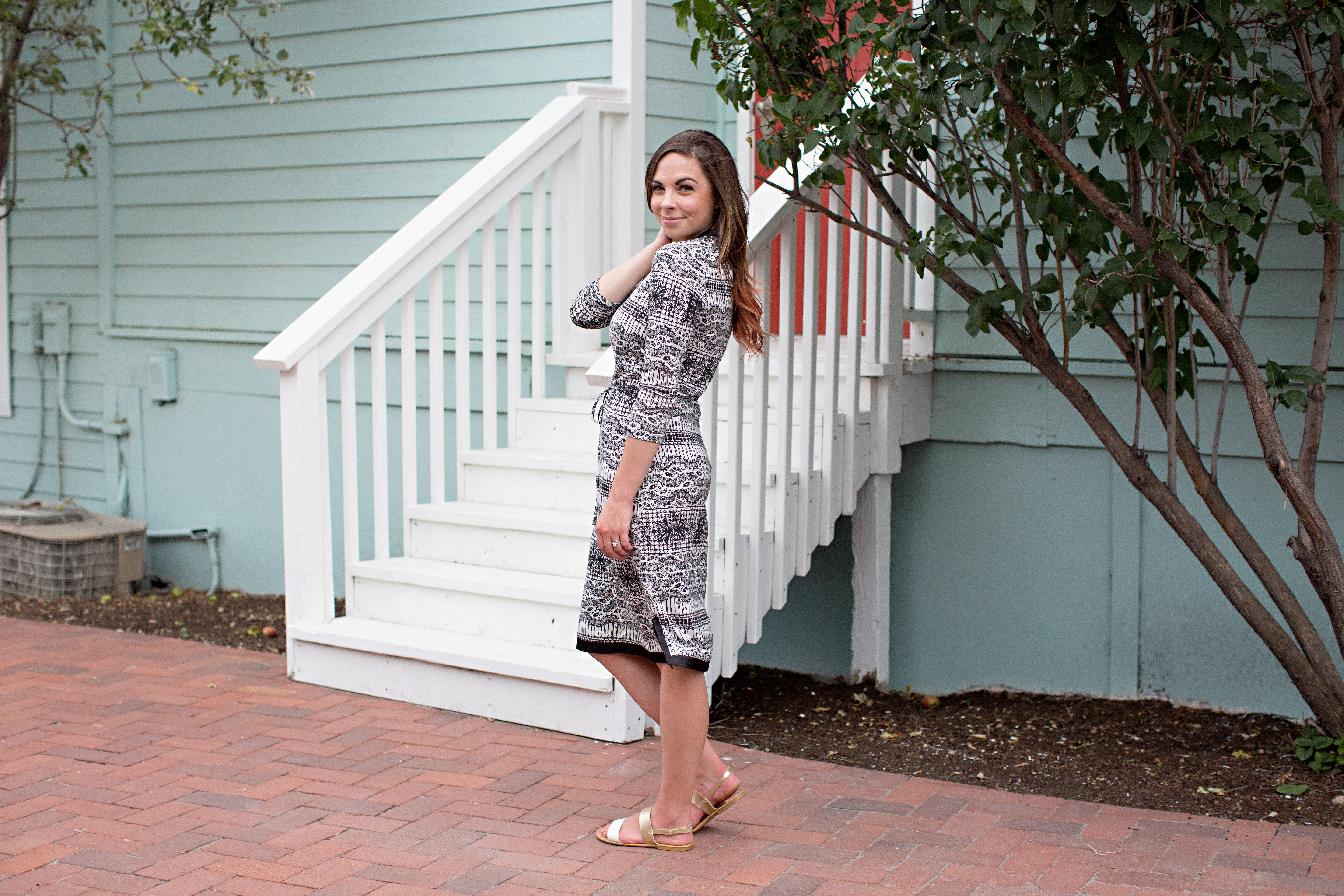 Uncategorized Modestly Styled picket fence a modest playdress for everyday wear goddess black and white jersey knit styled by fashion blogger lovely