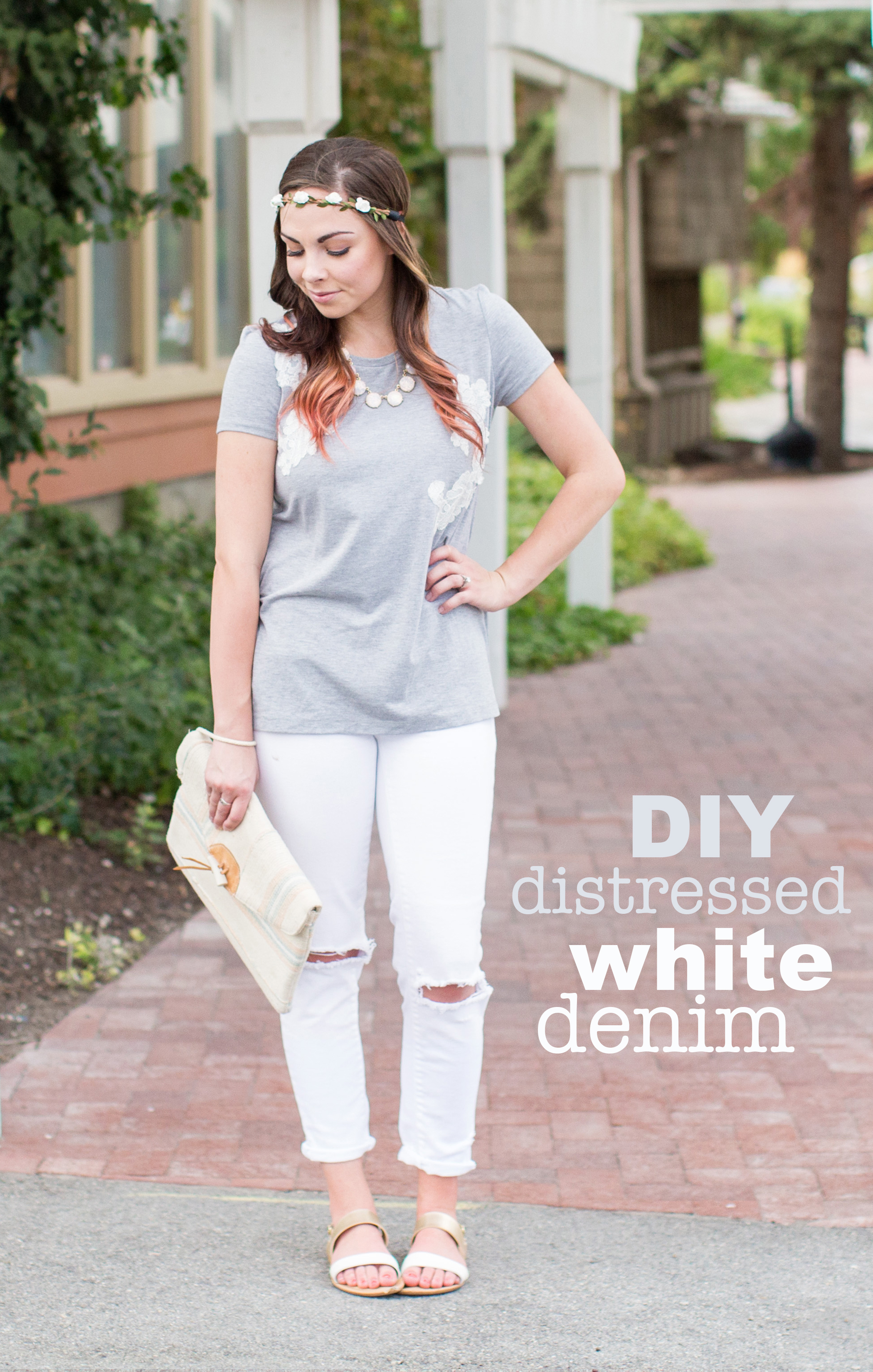 """Skies are Grey"" DIY Distressed Denim Tutorial"