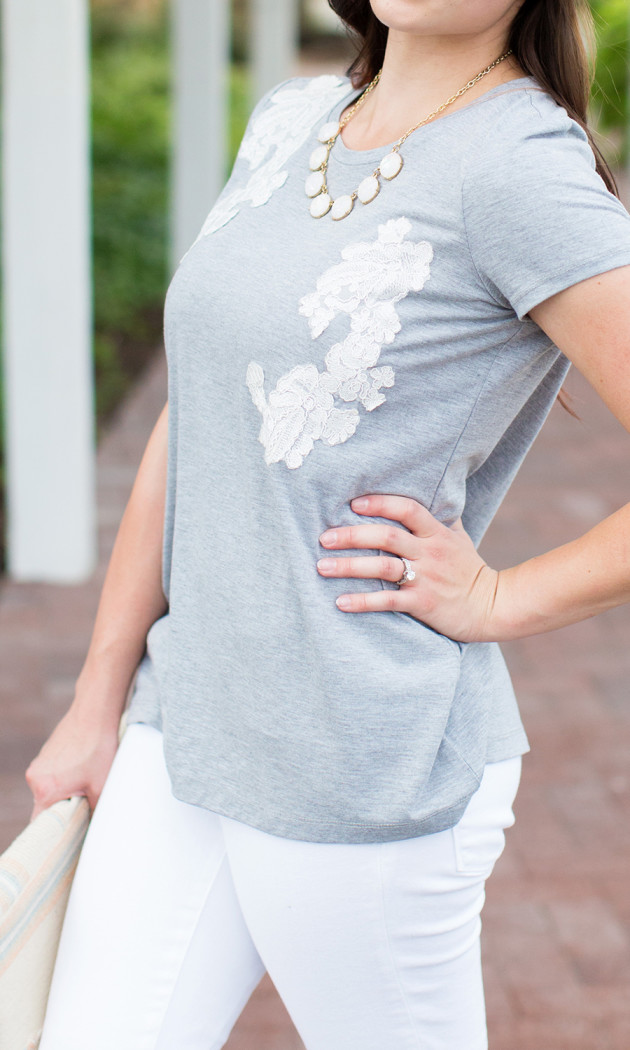 cutest downeast tee ever! Love the white appliques!