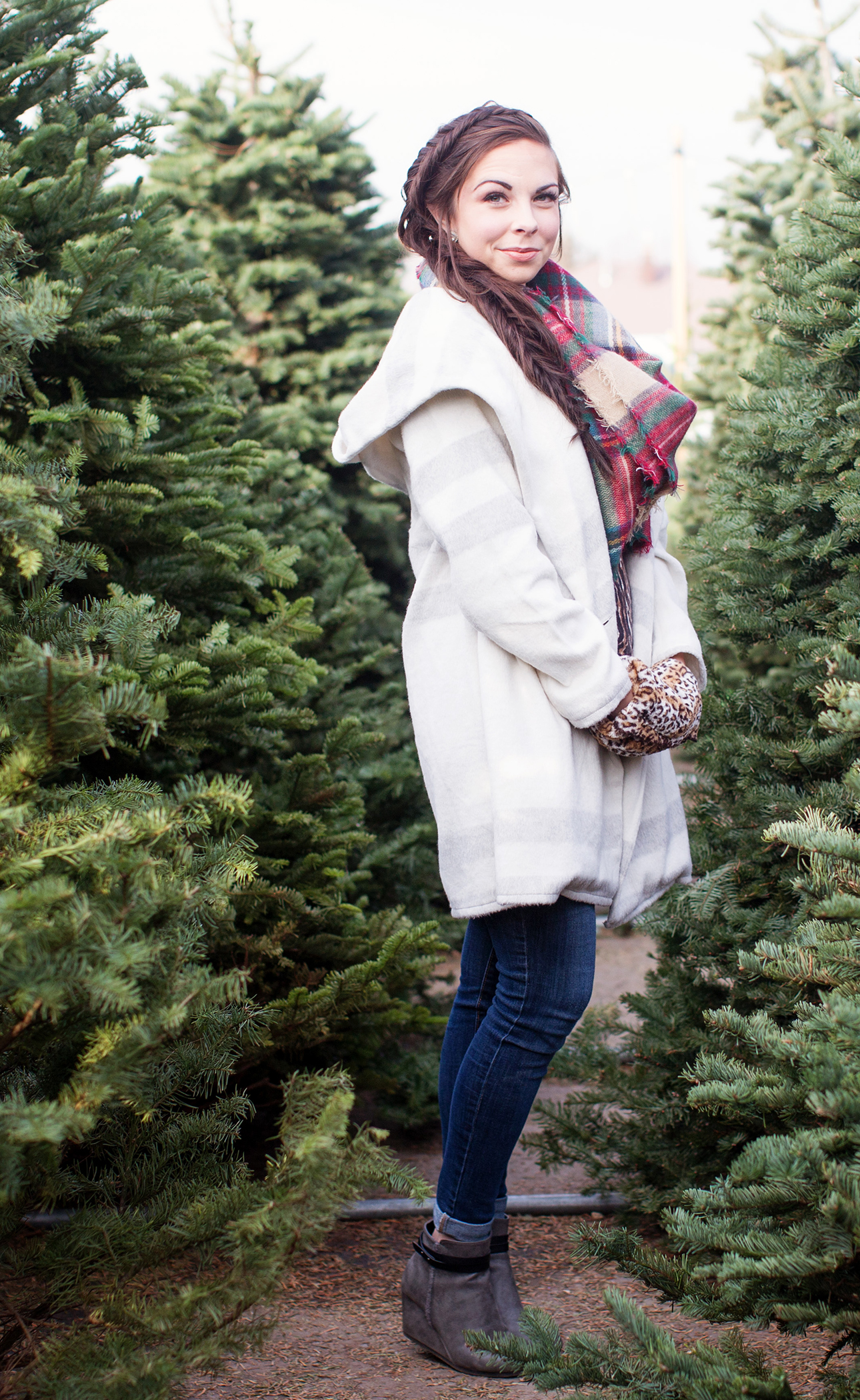 Trenched In Plaid Plaid Winter Coat Modest Goddess