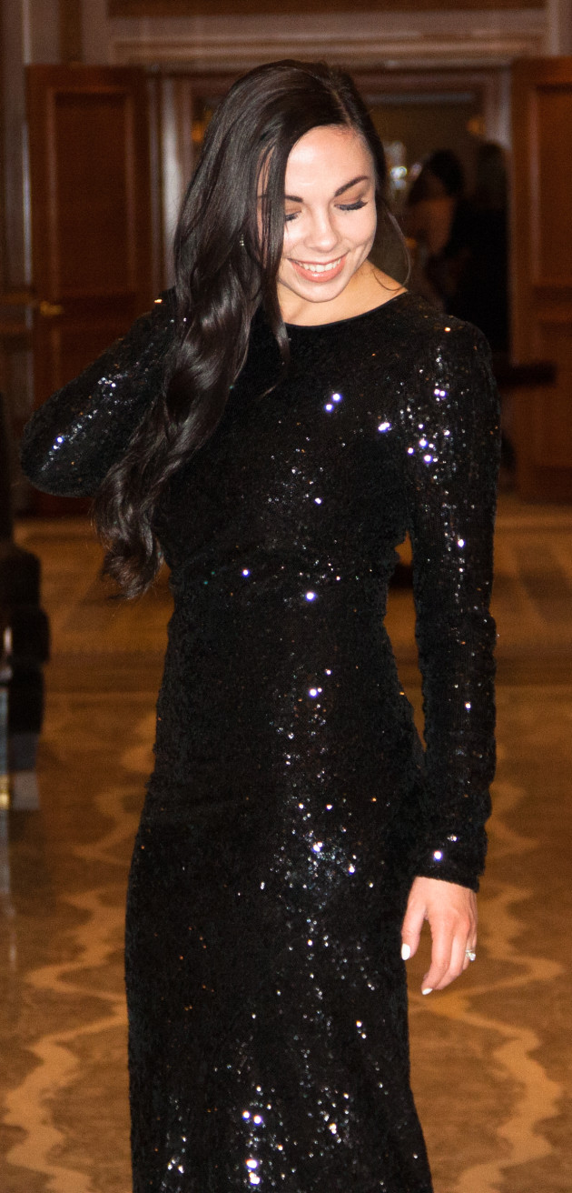 modest black sequin dress from Rent the Runway