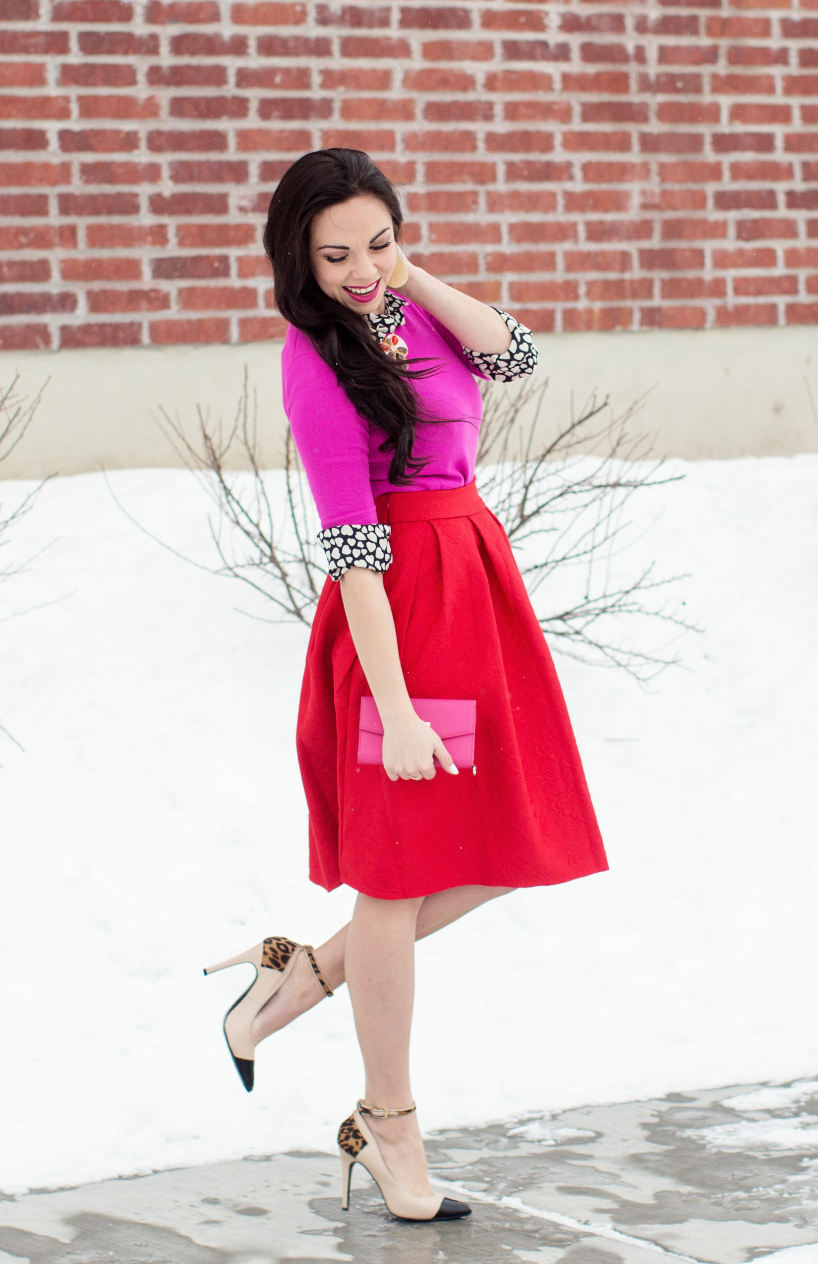"""Queen of Hearts"" Kate Spade Inspired Modest Valentine's Day Look"