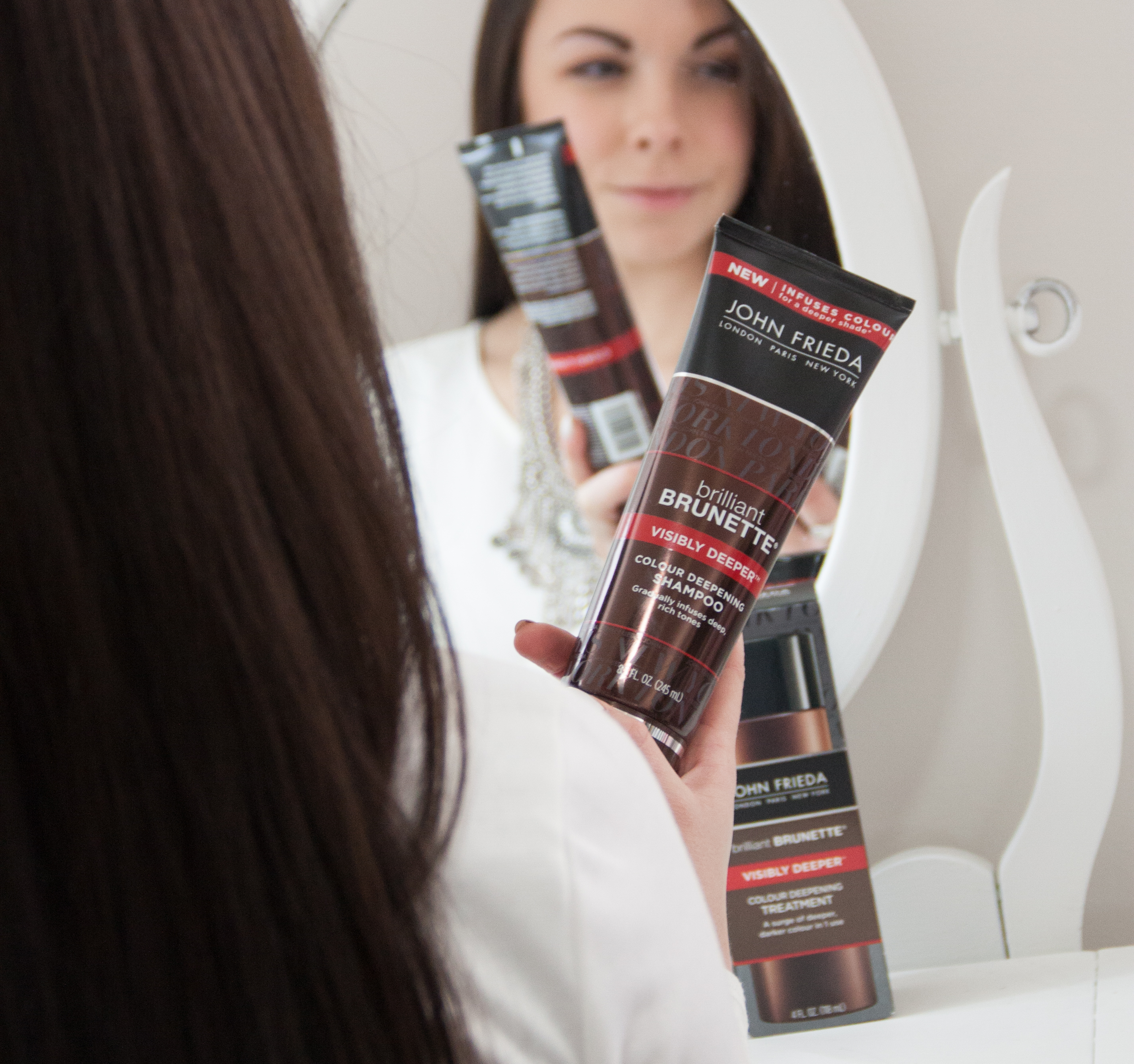 A More Brilliant Brunette At Home Deeper Brunette Color From Target