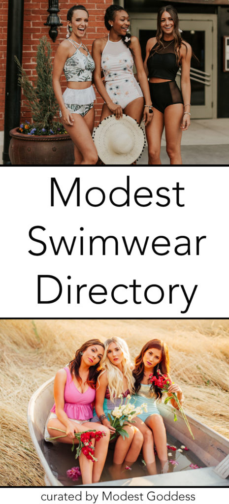 Modest Goddess curated a list of modest swimwear companies and modest swimwear brands in her Modest Swimwear Directory.