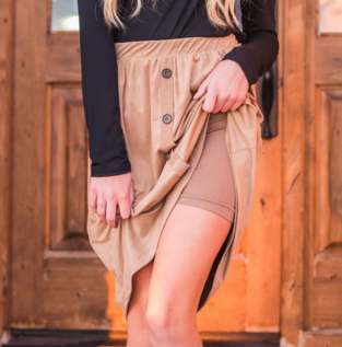 Layering shorts, modesty shorts