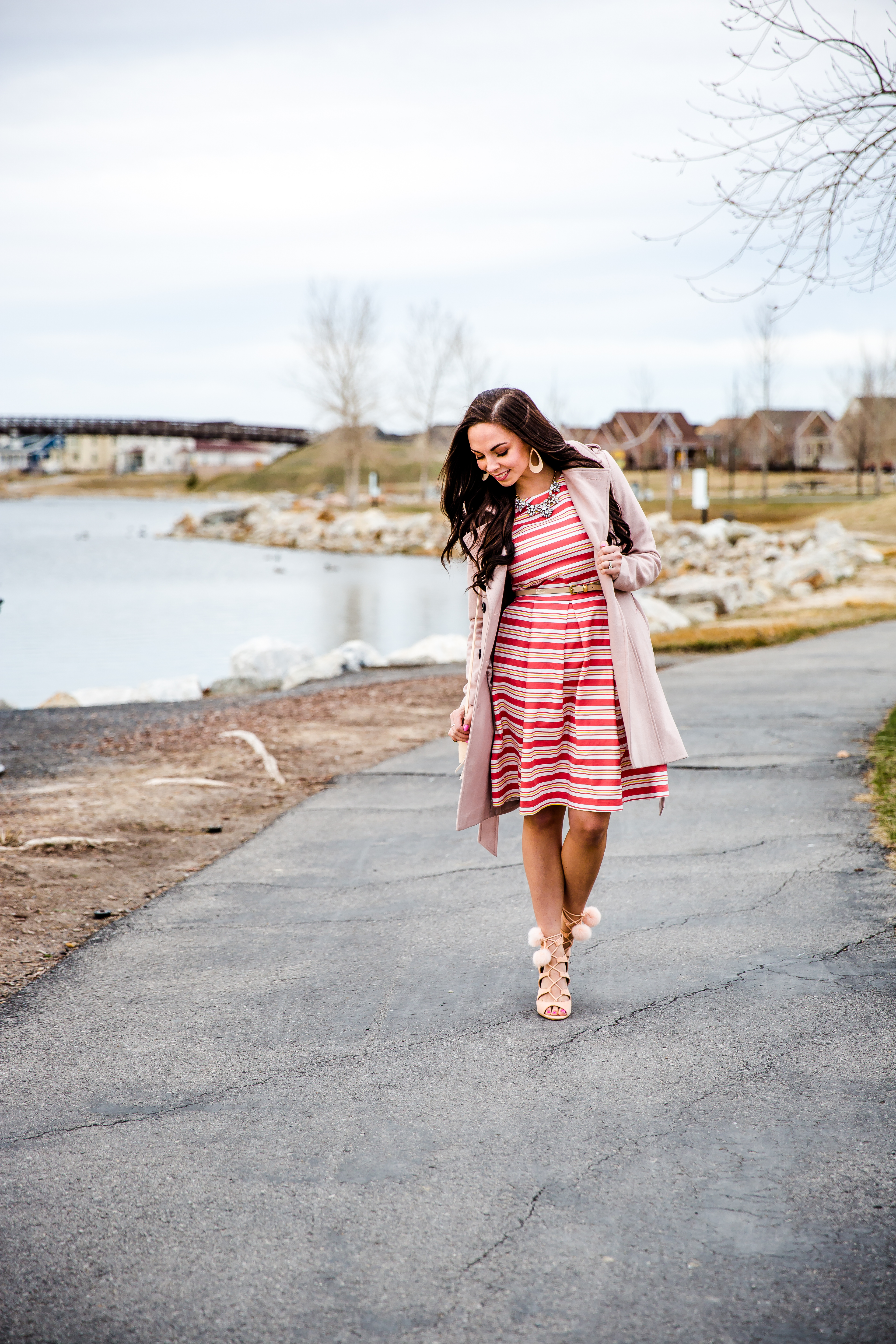 7213181b2a Modest fashion blogger Modest Goddess styles a springy modest striped  easter dress for easter.