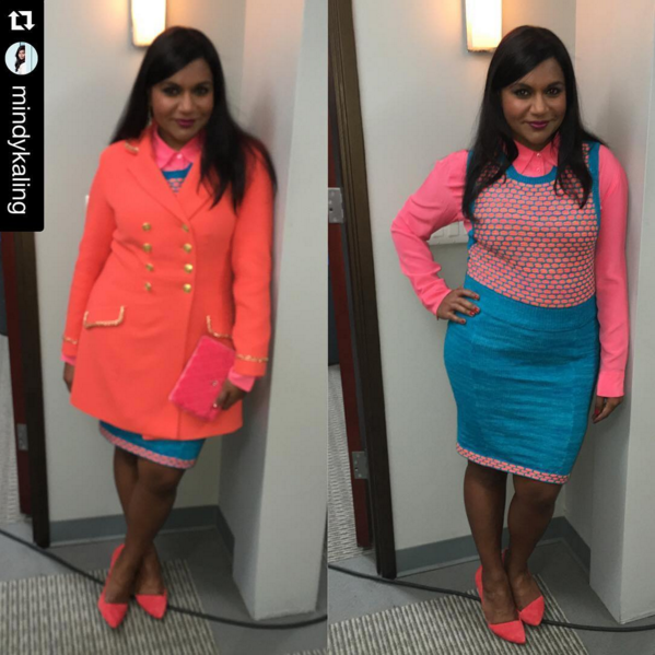 Mindy Kaling's stylist Salvador Perez Costumes. Photo from @salvadorperezcostumes instagram