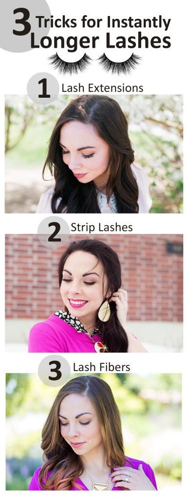 Utah fashion blogger Modest Goddess shares her 3 tricks for instantly longer lashes: lash extensions, lash strips, and lash fibers!