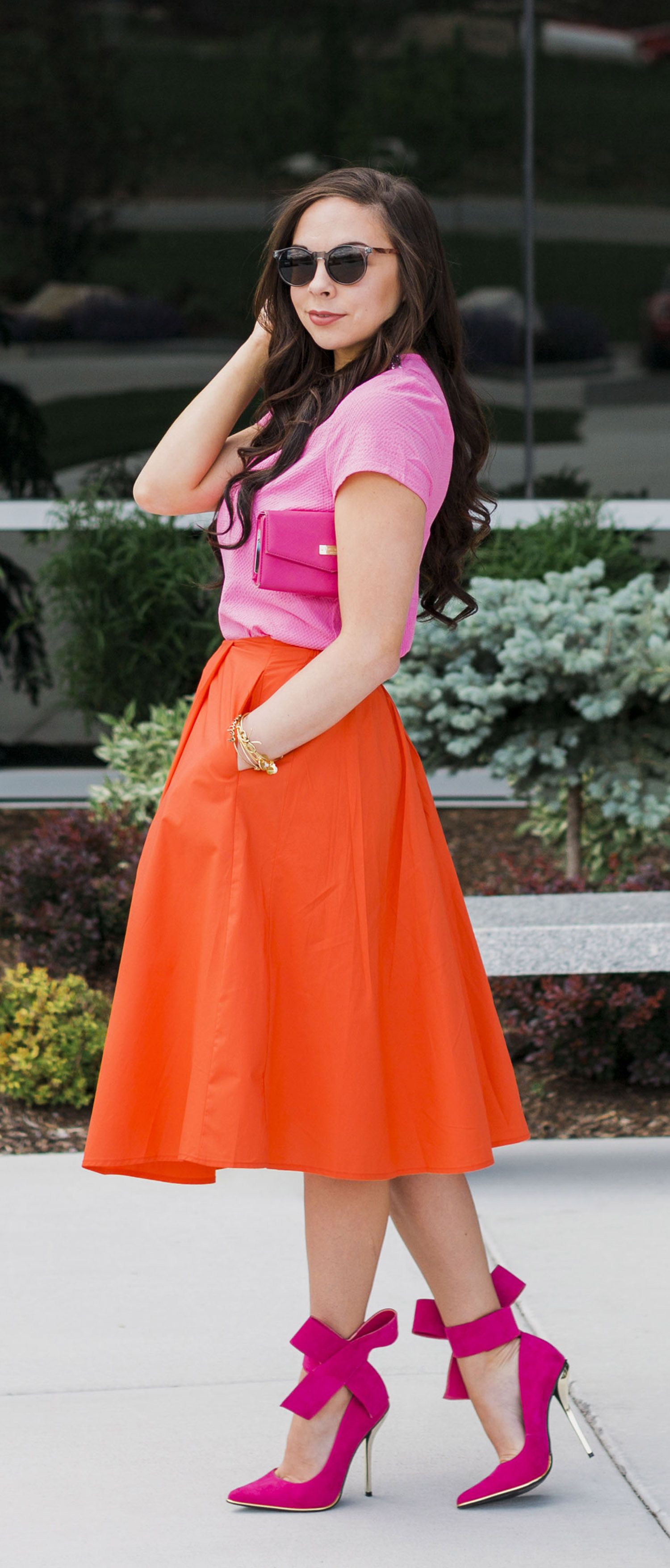 """Strawberry Dreamcicle"" Modest Pink & Orange Outfit"