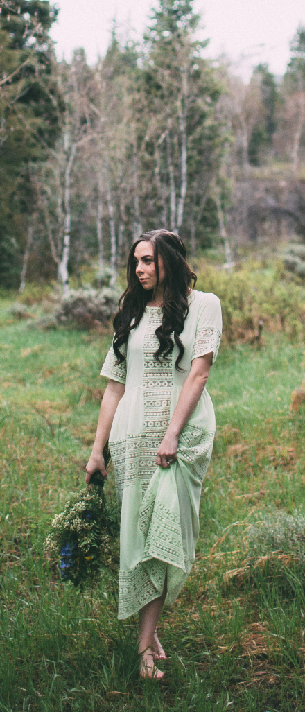 """Woodland Frolics"" How to Wear A Sheer Dress Modestly – A Modesty Hack"