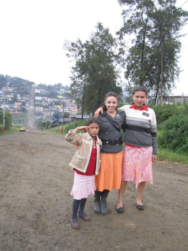 LDS Sister Missionary Hermana Jacobsen in Coban, Guatemala wearing a cute sister missionary outfit.