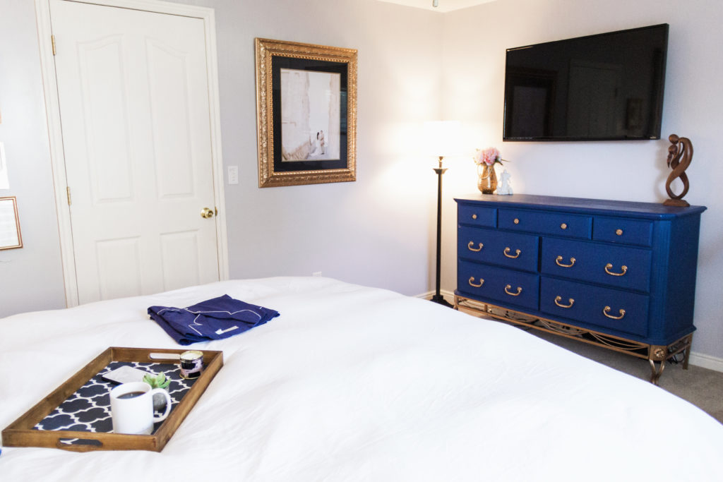 My master bedroom tour diy navy copper master bedroom makeover modest goddess Diy master bedroom makeover
