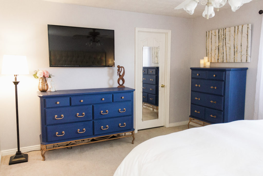 My Master Bedroom Tour Diy Navy Copper Master Bedroom Makeover Modest Goddess