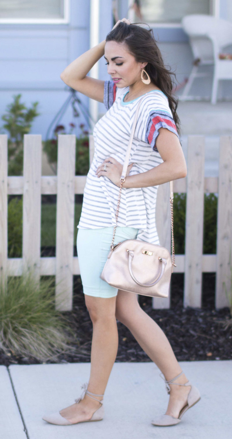 """Summer Shorts & Stripes"" Cute Modest Shorts"