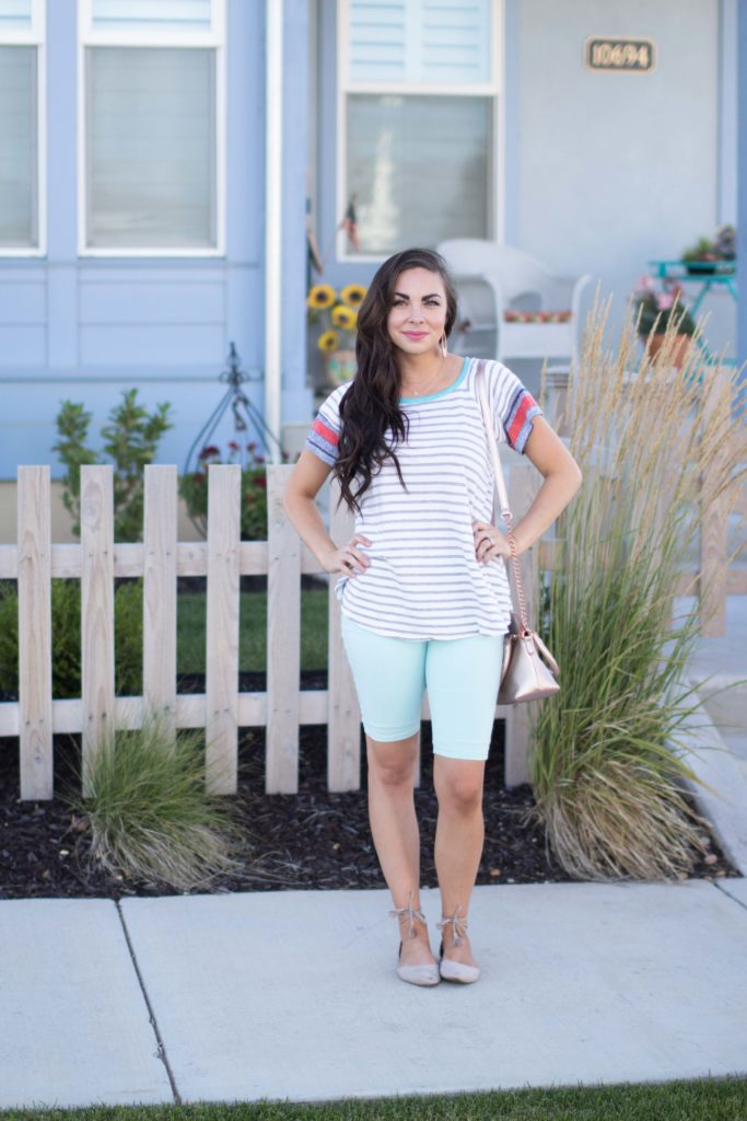 69a09d61fab Modest fashion blogger Modest Goddess wears her favorite cute modest  shorts! The perfect shorts for