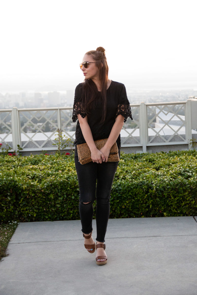 """Chic in Black"" Black on Black Chic Modest Outfit"