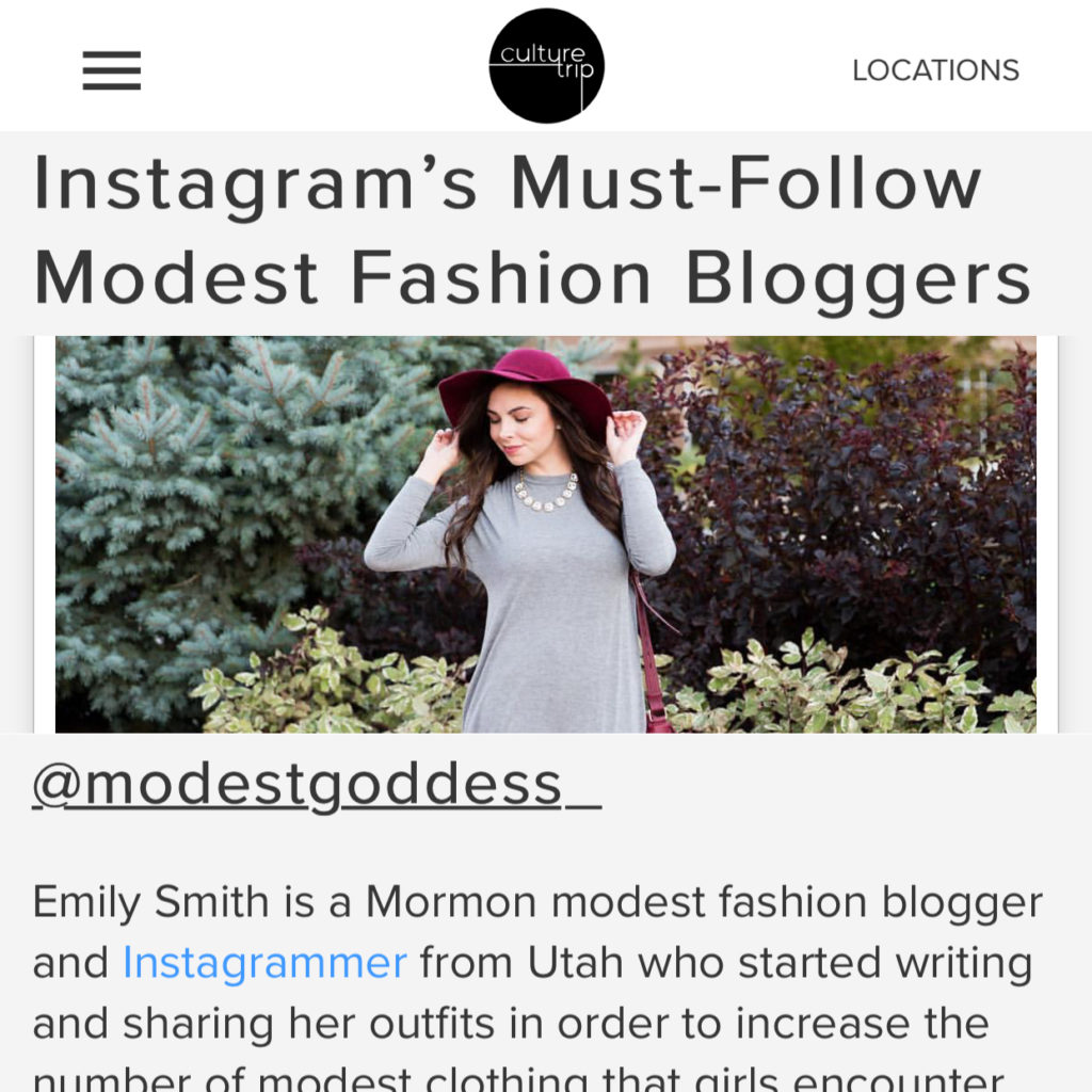 Modest Goddess Featured in Culture Trip: Instagram's Must-Follow Modest Fashion Bloggers
