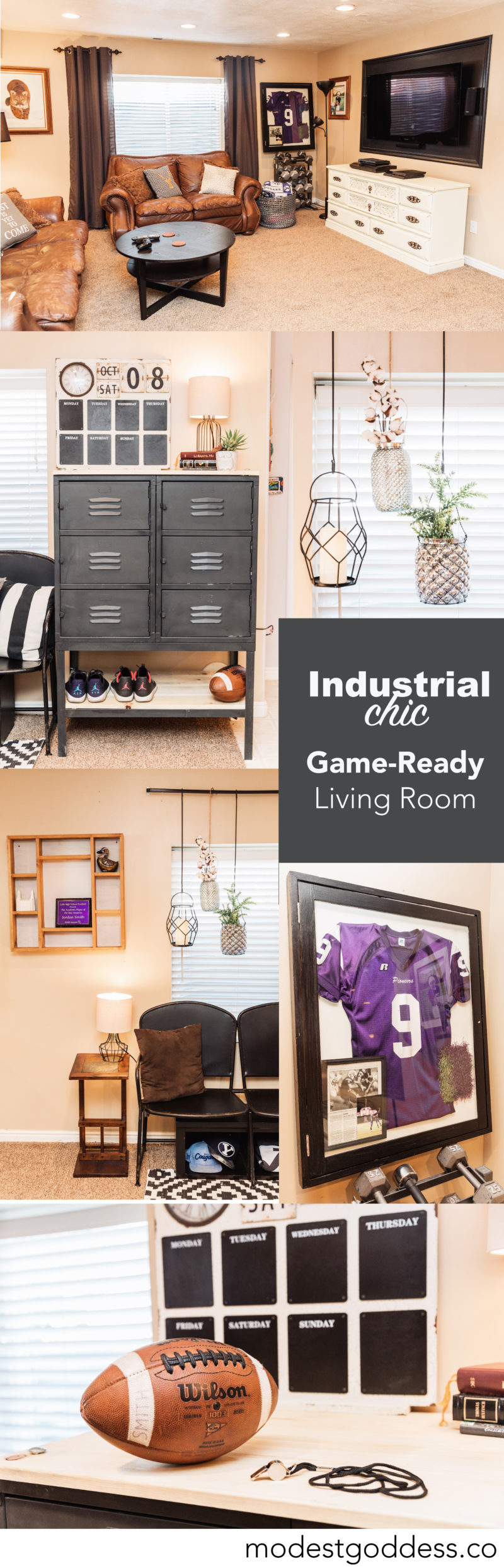 Industrial Chic Game-Ready Living Room