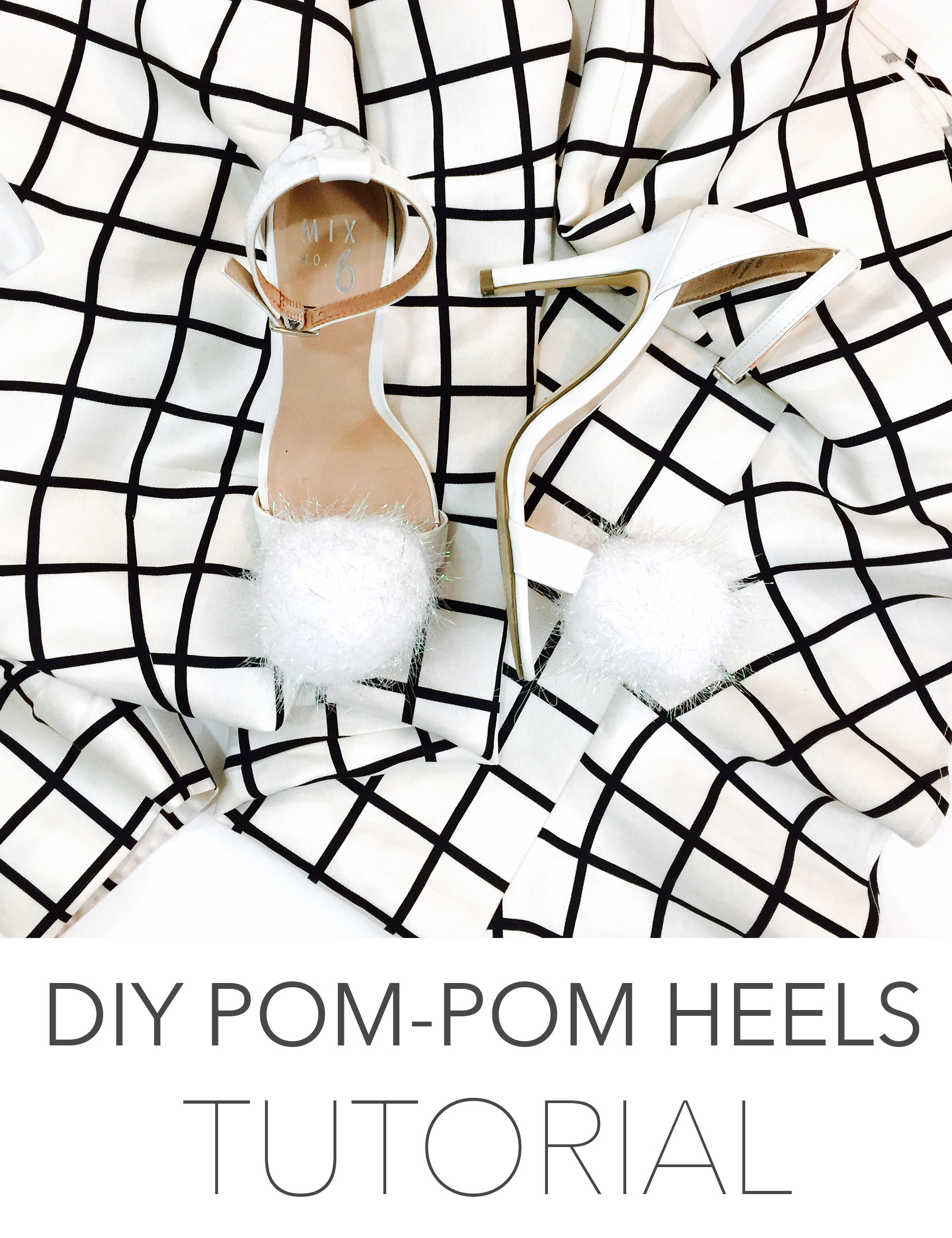 diy pom pom heels tutorial modest goddess