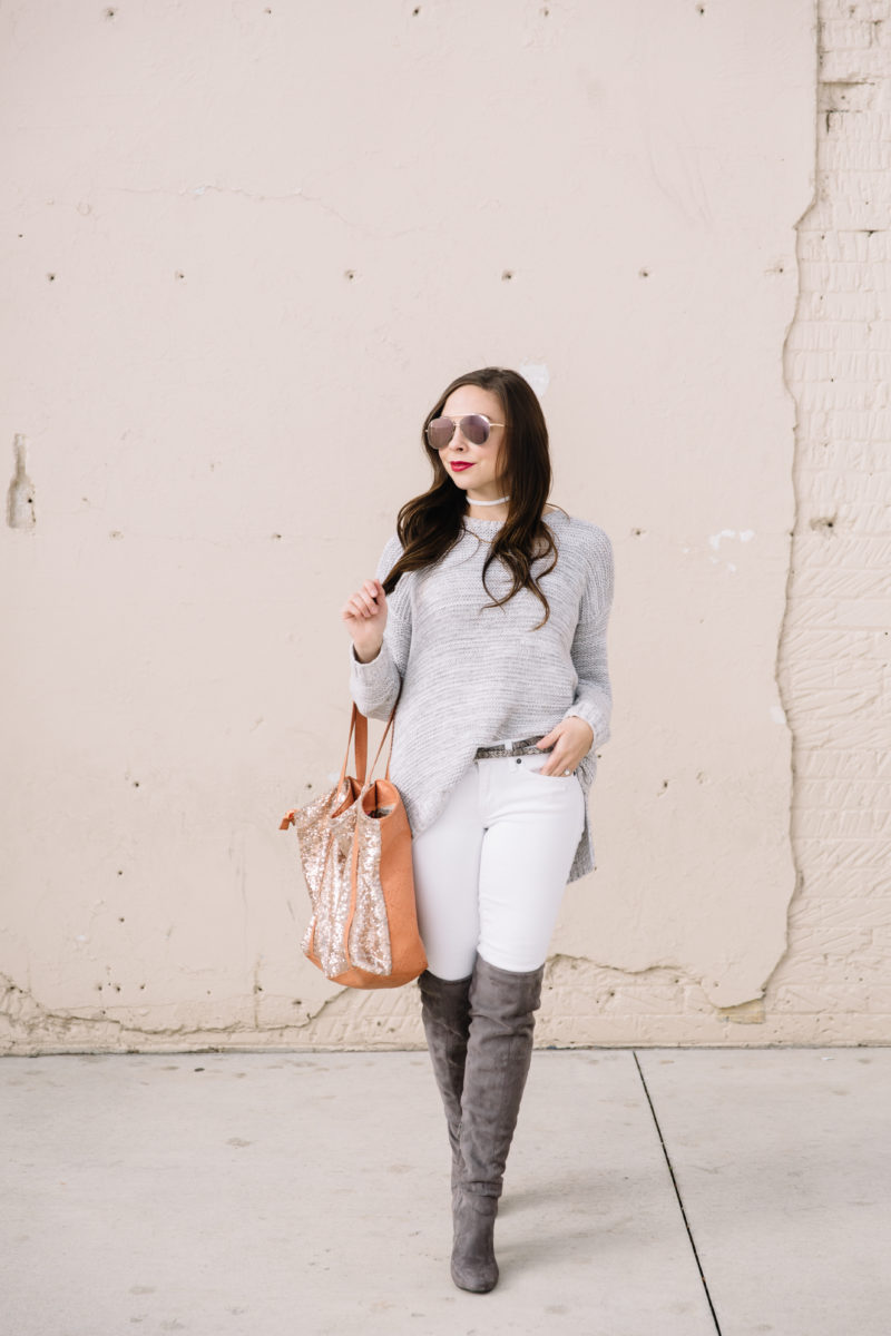 """January Vibes"" Modest Over-The-Knee Suede Boot Style"