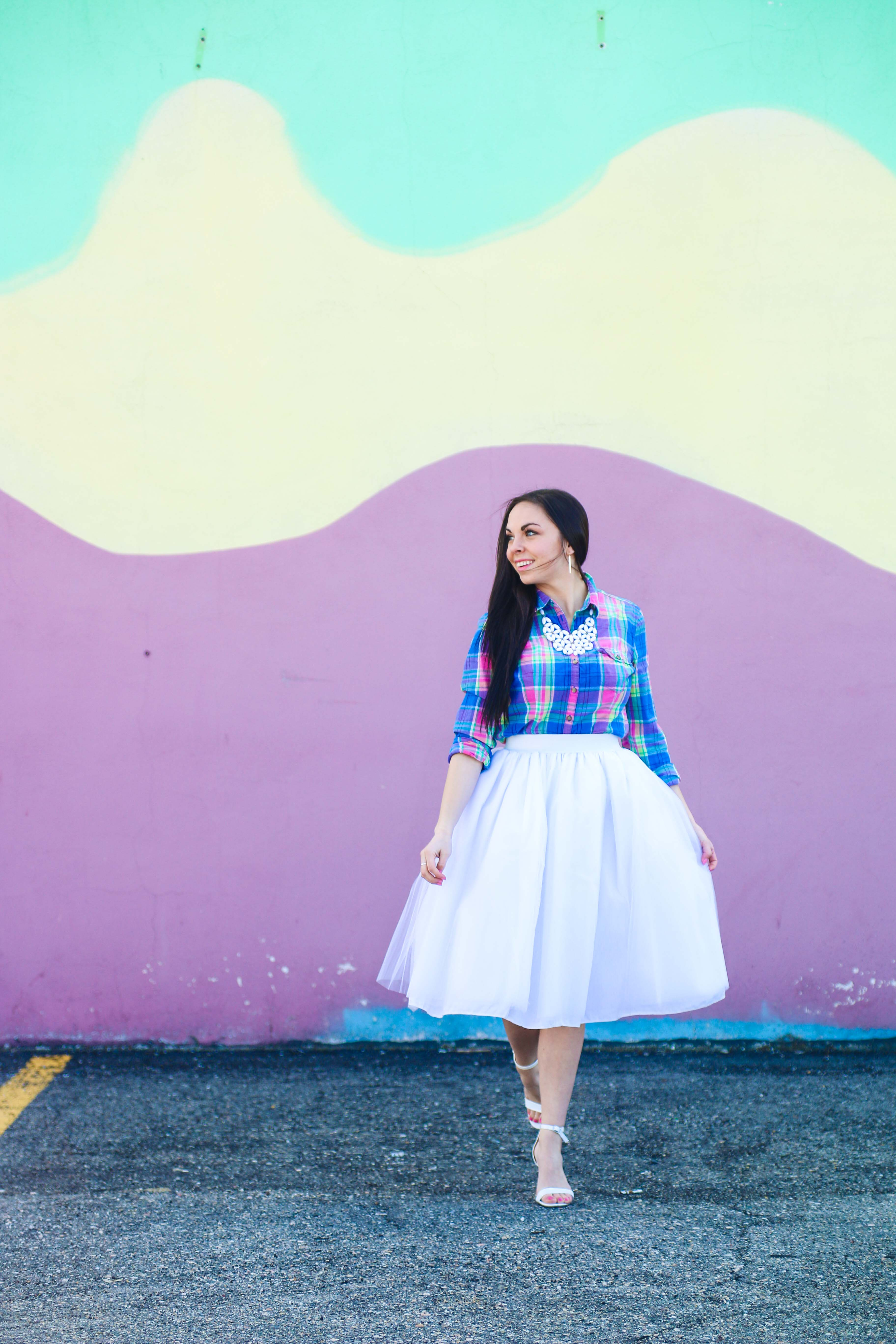52a0fd192f Modest Goddess a modest fashion blogger styles a modest pastel easter outfit  featuring a white tulle ...